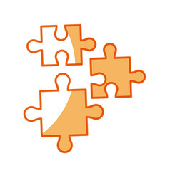 puzzle pieces object shape work vector image vector image