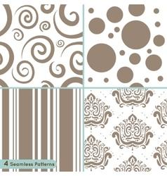Seamless pattern circles lines swirls ornament vector image