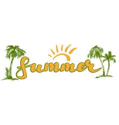 Summer beach logo symbol vector