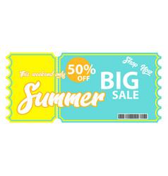 summer sale voucher vector image