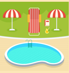 summer swimming pool vector image vector image