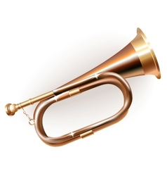 Traditional hunting horn vector image