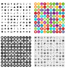 100 show business icons set variant vector