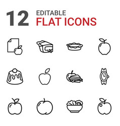 12 apple icons vector