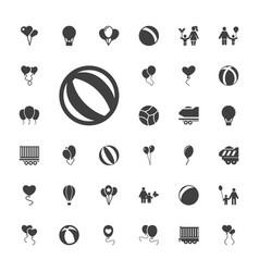 33 balloon icons vector