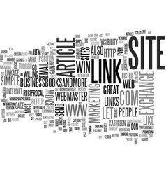A simple link creates a win win text word cloud vector