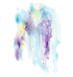Abstract design with splatter stain hand-painted vector