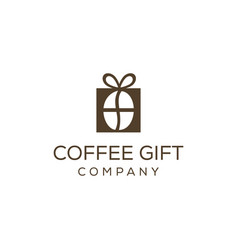 abstract gift box printed with coffee beans inside vector image