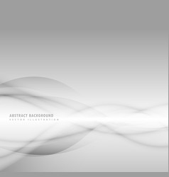 Abstract smoky wave on gray background vector