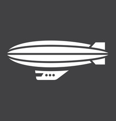 Airship blimp glyph icon transport and air vector