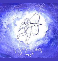 astrology sign sagittarius vector image