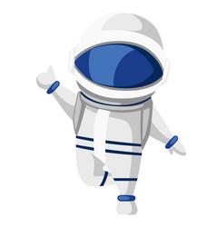 astronaut cartoon character design cute vector image
