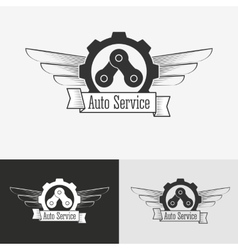 Auto logo design template vector