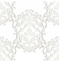 Baroque damask ornament pattern element vector