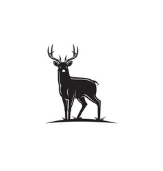 black deer emblem vector image