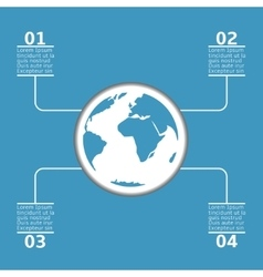 Blue earth infographic vector image