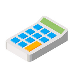 calculator three dimensional vector image