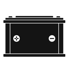 car battery icon simple style vector image