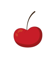 Cherry fruit red food product icon graphic vector