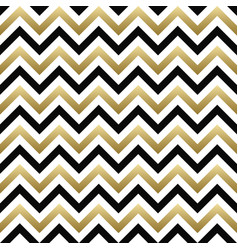 chevron seamless pattern black gold zigzag vector image