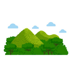 Chocolate hills in the philippines vector