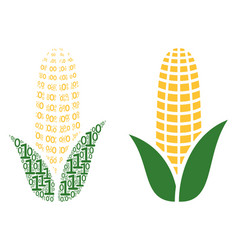 Corn mosaic of binary digits vector