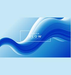 creative design 3d flow shape liquid wave blue vector image