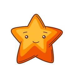 cute kawaii star funny seasonal vector image