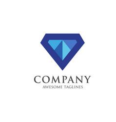 diamond gem logo premium premium quality diamond vector image