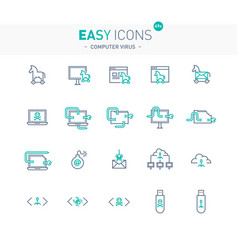 Easy icons 49e computer virus vector
