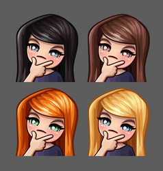 emotion icons thinks female vector image