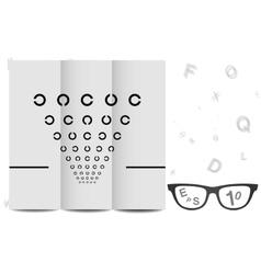 Eye Chart vector