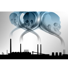 factory pollution vector image