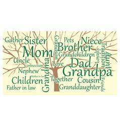 Family tree pegidree vector