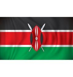 Flag of Kenya vector image