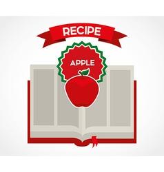 Fruit recipe book vector