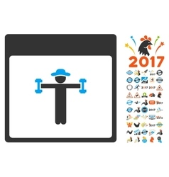 Gentleman Fitness Calendar Page Flat Icon vector