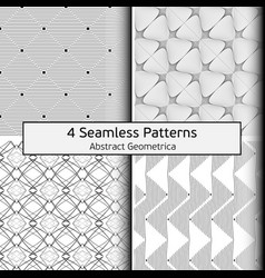geometric set patterns 0001 4 vector image