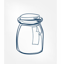 glass can line clip art isolated cosmetics vector image
