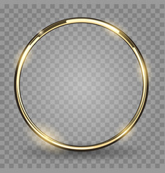 Gold ring on transparent background vector