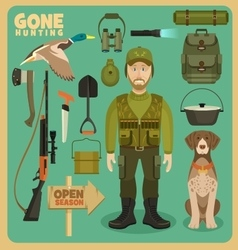 Gone hunting duck vector
