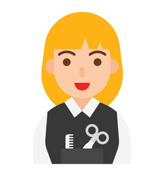 Hairdresser icon profession and job vector