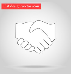 Handshake between two people vector