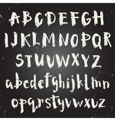 Handwritten script font vector image
