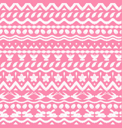 happy easter ikat seamless pattern vector image