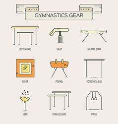 Icons with Gymnastics Symbols vector