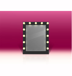 Illuminated mirror for makeup backstage vector