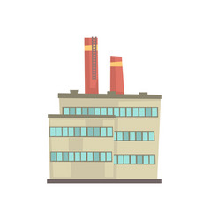 industrial manufactury building vector image