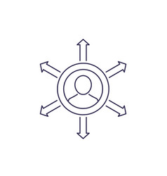 Influence line icon on white vector