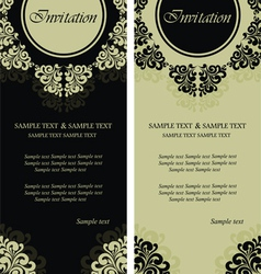 invitation cards copy vector image